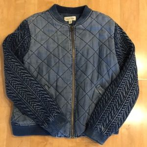 Cloth & Stone chambray bomber NWOT